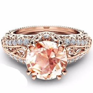 Jewelry - Size 8 - 2.65CT Champagne Zircon 14K RGP Ring